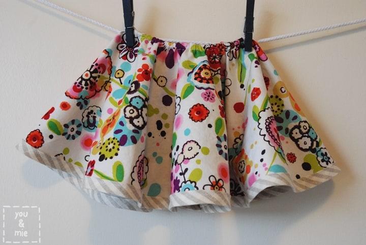 Reversible toddler skirt