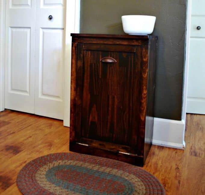 Rustic trash cabinet