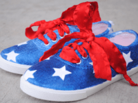 American flag shoes 200x150 13 DIY Projects that Celebrate the American Flag