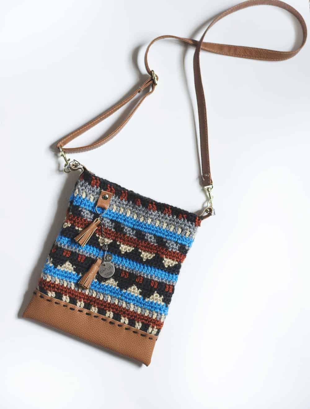 Aztec cross-body boho purse