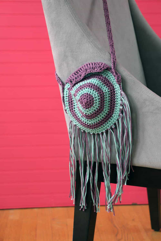 Bicolored boho purse
