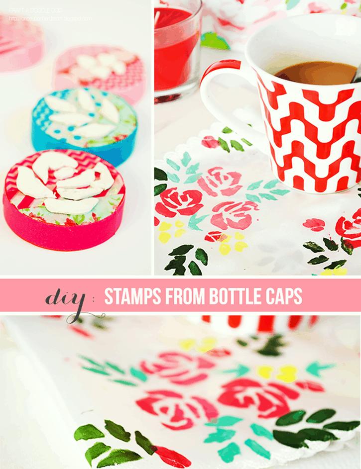 Bottle cap stamps