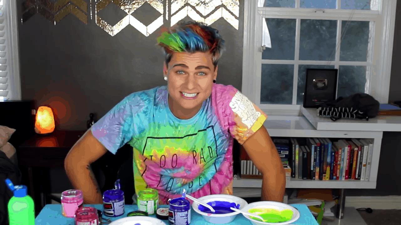 Boys' rainbow hair
