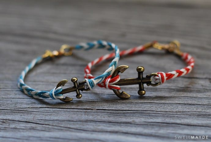 Braided anchor bracelets