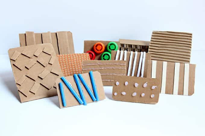 Cardboard stamps