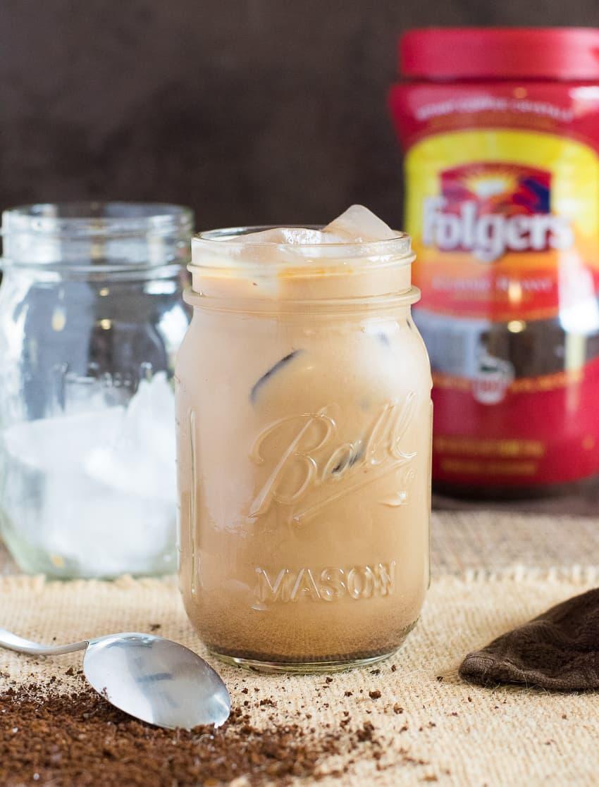 Creamy vanilla iced coffee