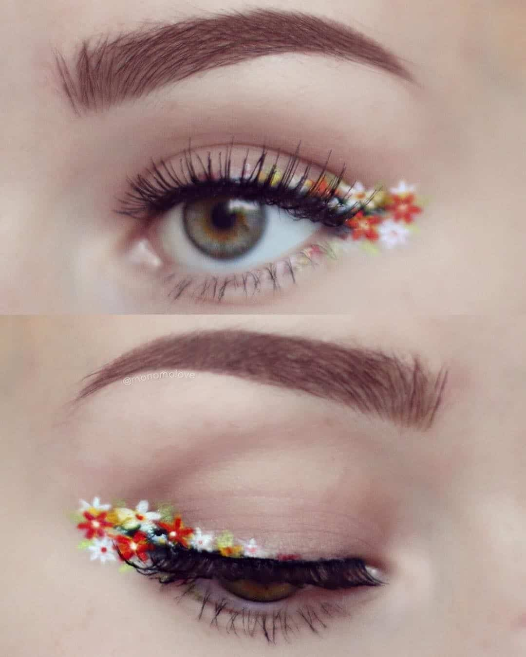Creative floral eyeliner