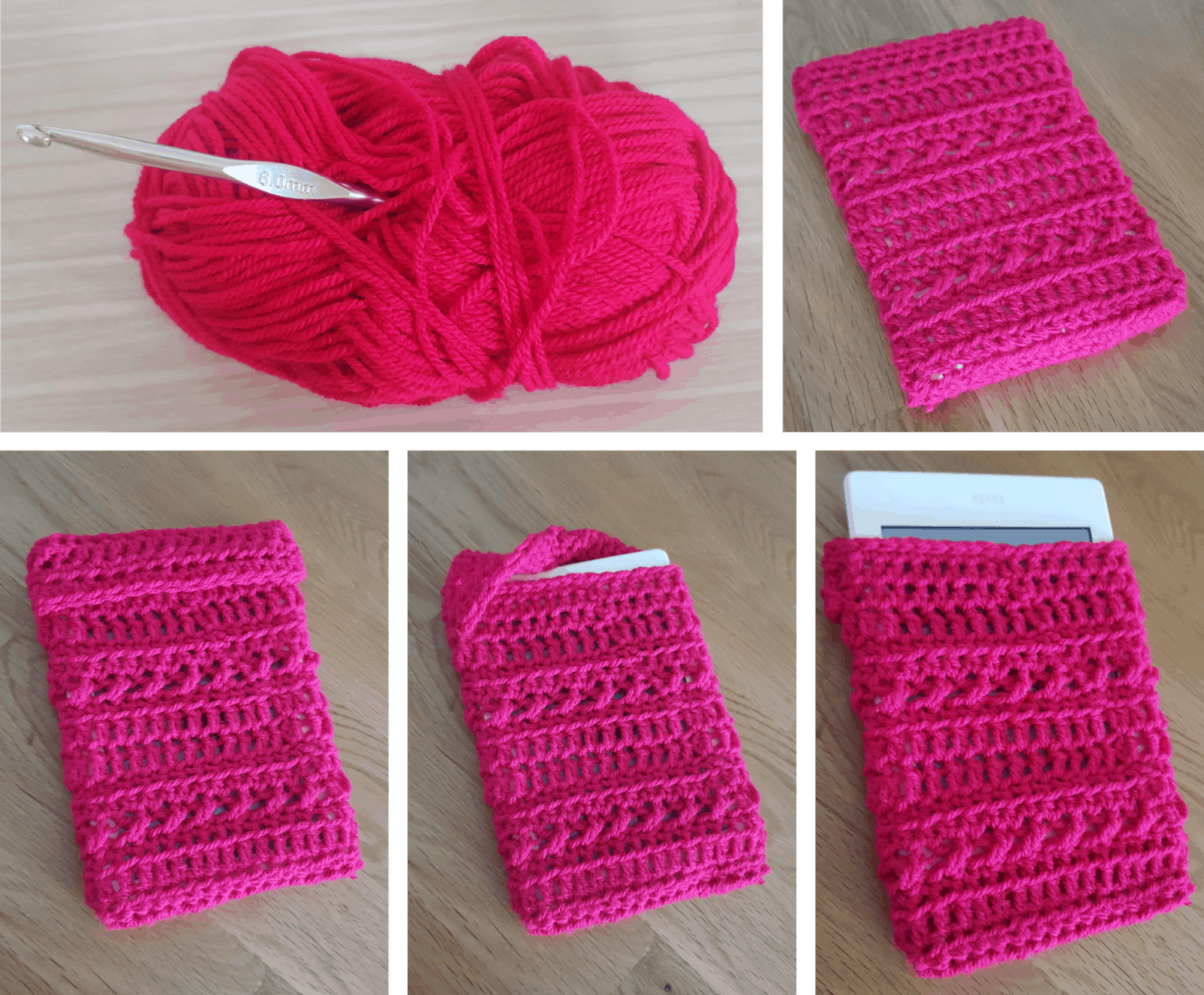 Crochet kindle case