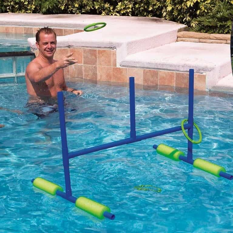 DIY pool ring toss game