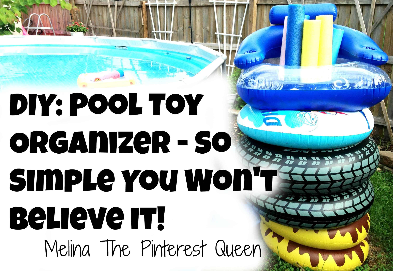 DIY pool toy organizer