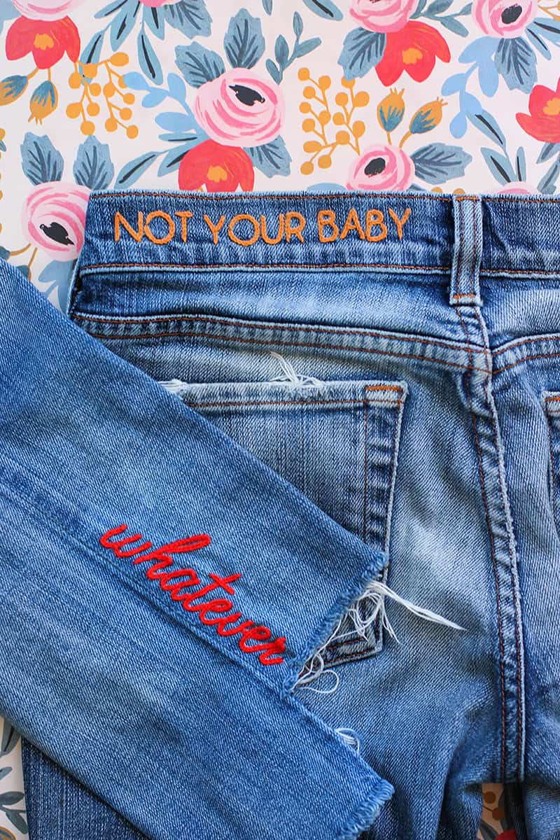 Denim embroidery