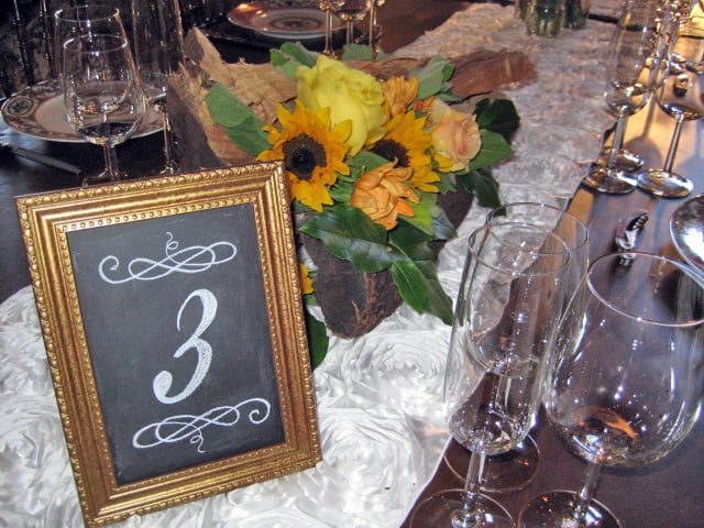 Framed Chalkboard Table Numbers