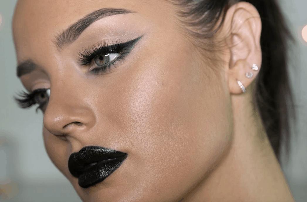Glamorous dark makeup