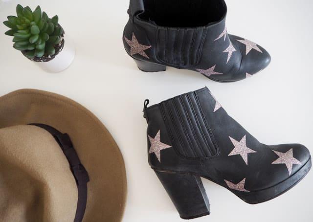 Glitter star boots