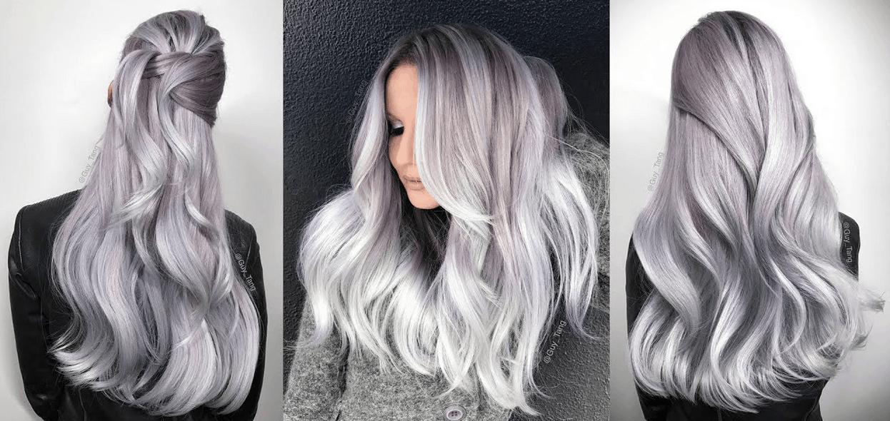 Lavender silver hair