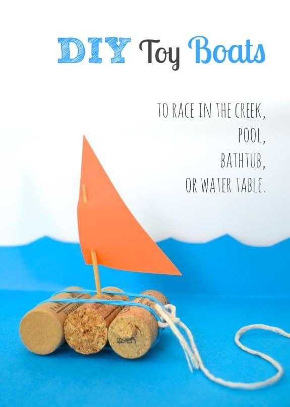 Little cork sailboats
