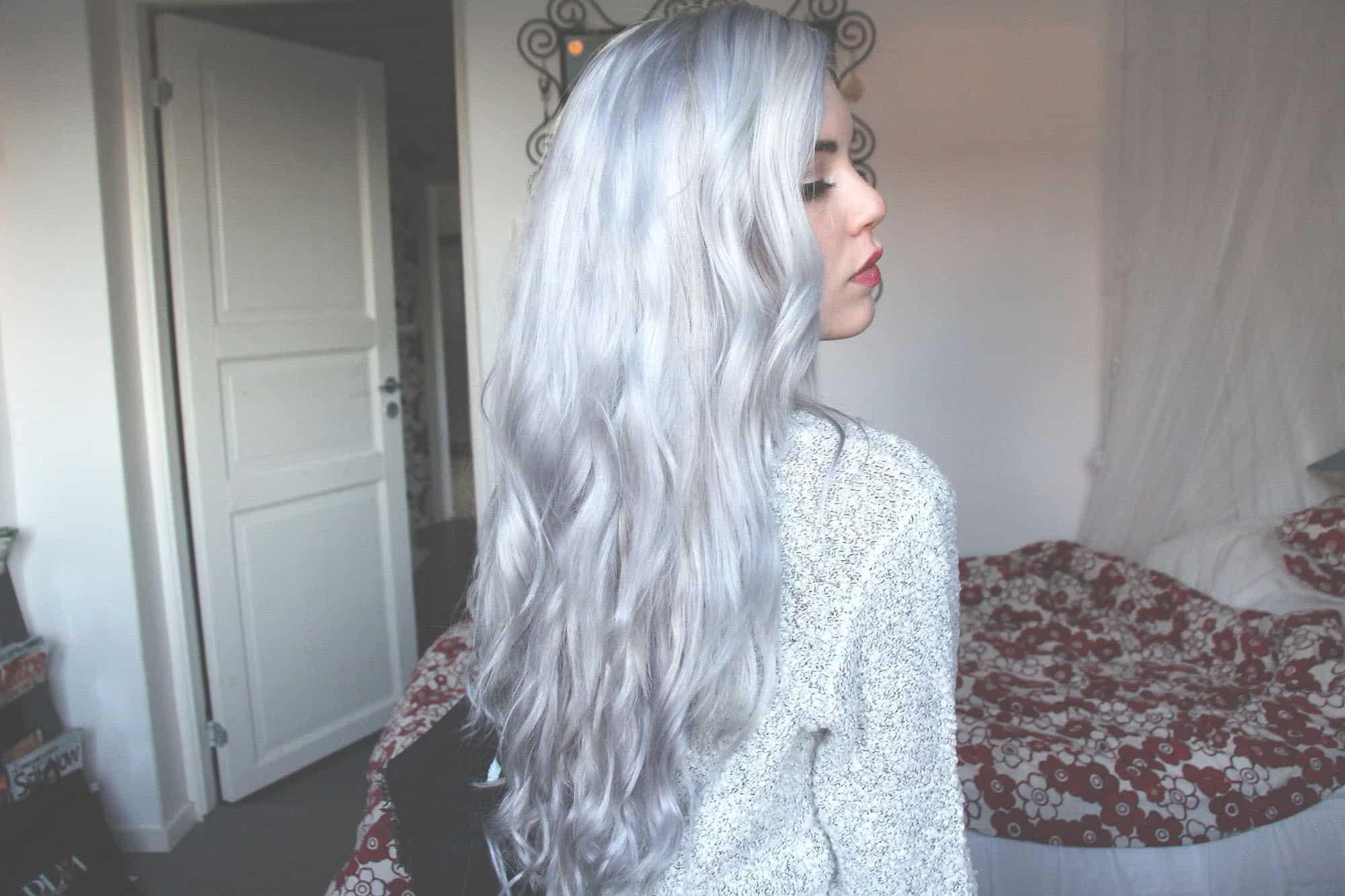 Long fairy silver hair