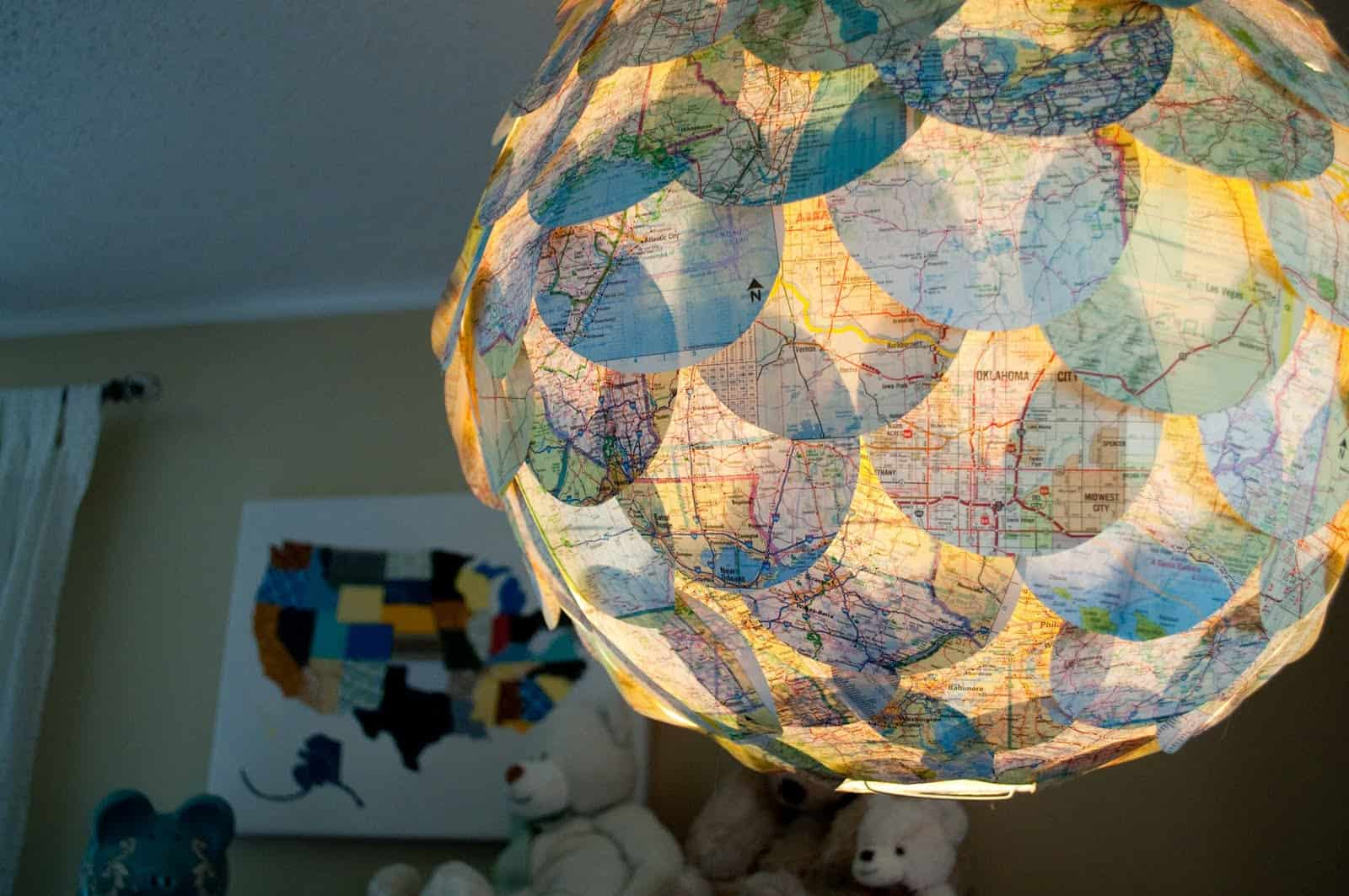 Map chandelier