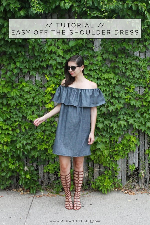Off the shoulder loose dress