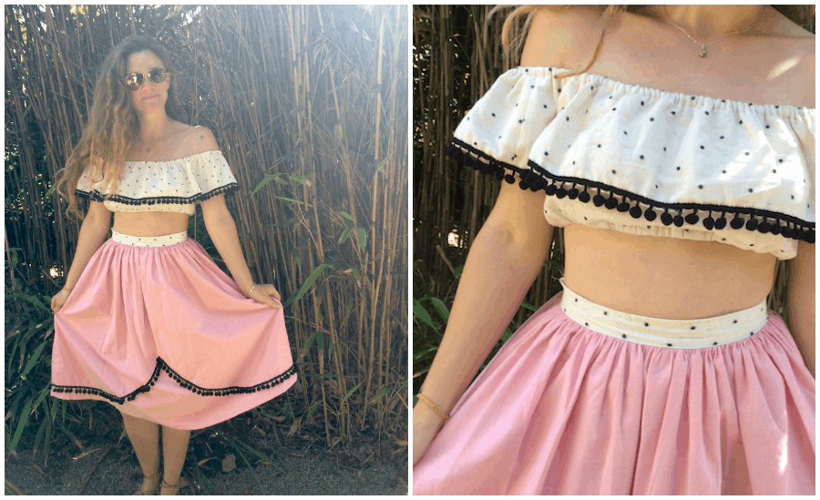 Off the shoulder refashioned shirt