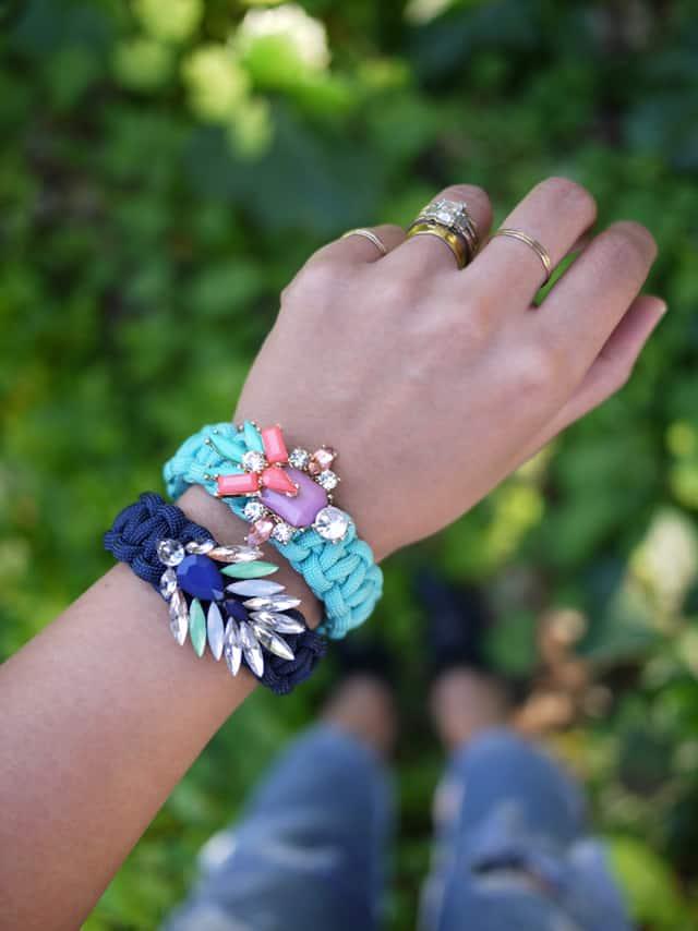 Paracord braided bracelets
