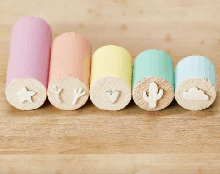 Pastel stamps