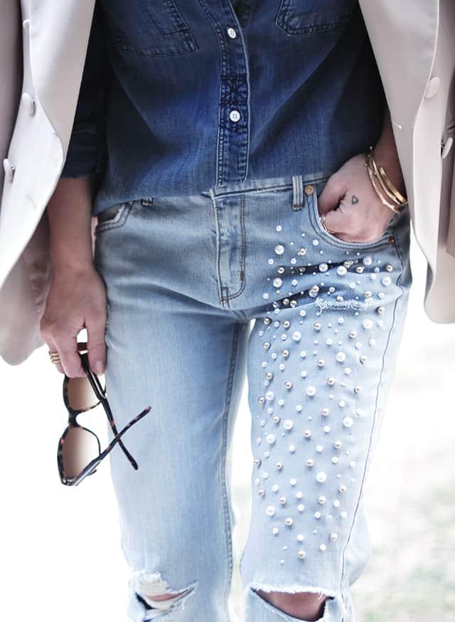 Peral embellished jeans