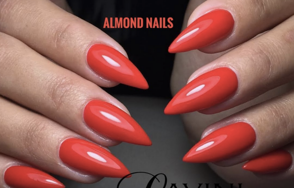 Modern and trendy manicure diy almond nails 1 red almond nails solutioingenieria Images