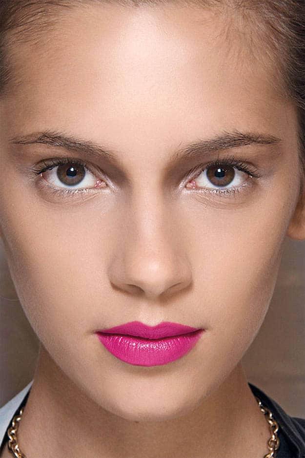 Rosy fuschia lips