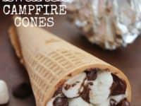 SMores campfire cones 200x150 Fun Outdoor Treats: 15 Unique Campfire Snacks for Summer