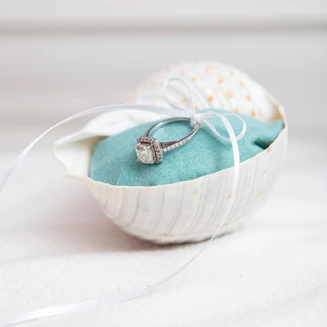 Seashell ring pillows