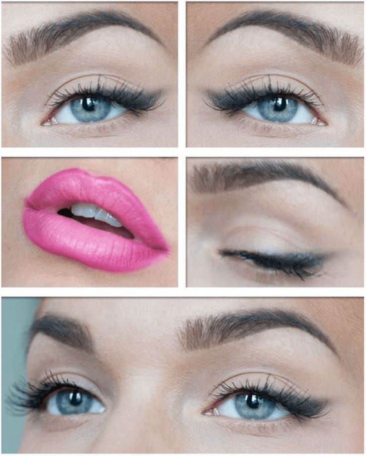Smoked out wing and bright pink lips