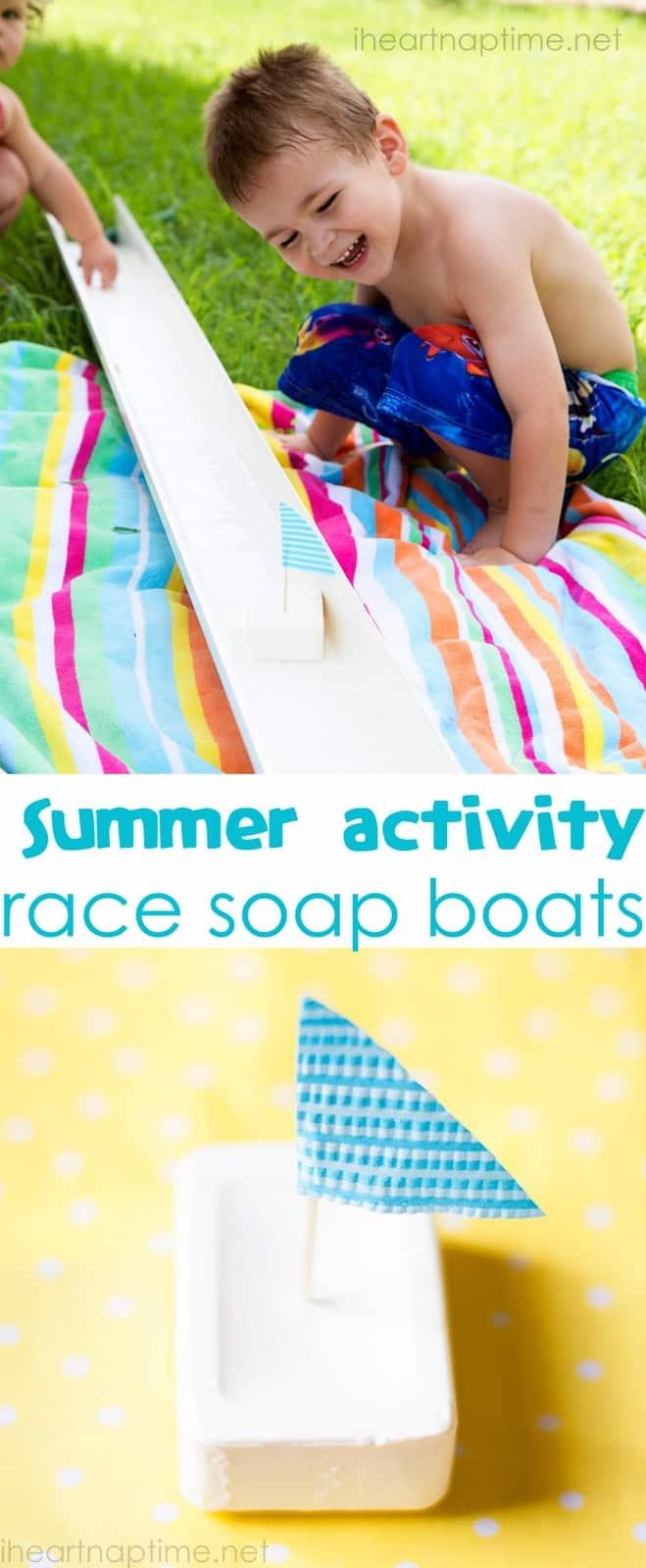 Soap boat races