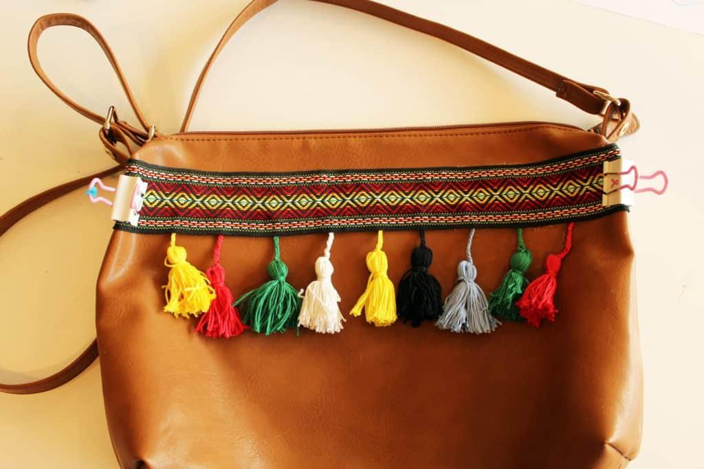 Tassel boho purse