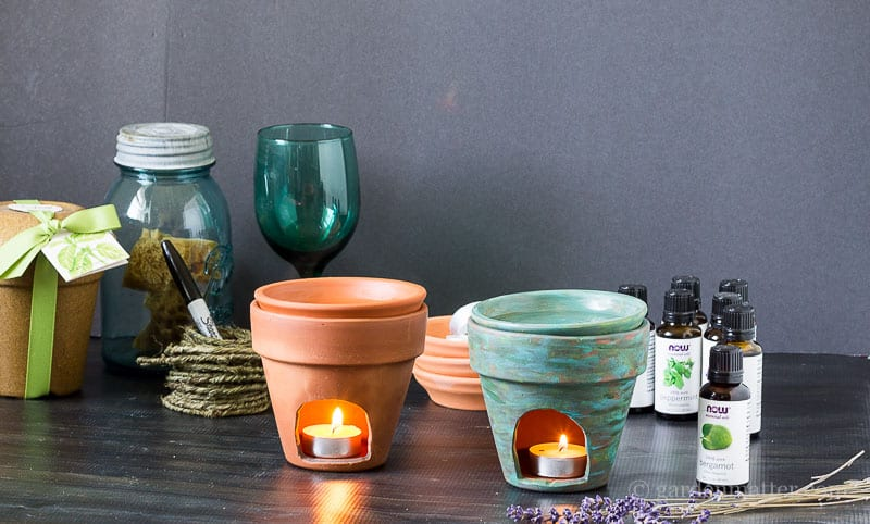 Terra cotta pot essential oil diffusers