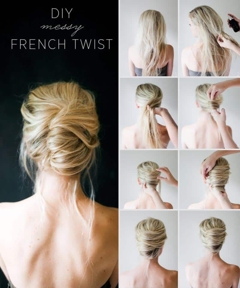 The messy French twist DIY Hairstyles For The Perfect Springtime Look