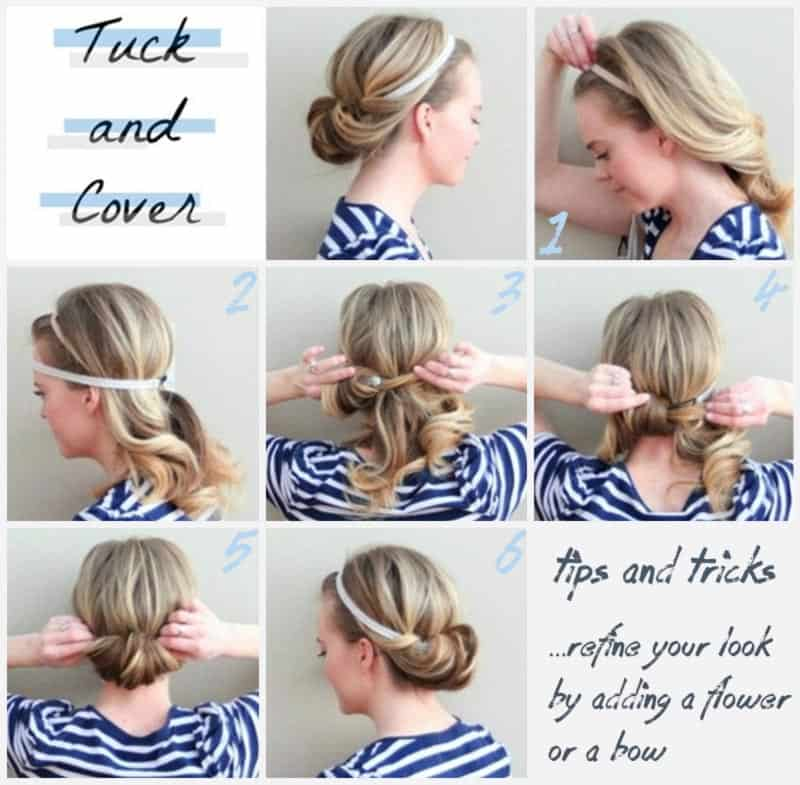 The tuck and cover DIY Hairstyles For The Perfect Springtime Look