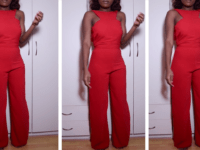 Vibrant red jumpsuit 200x150 Beauty in One Piece: DIY Jumpsuits