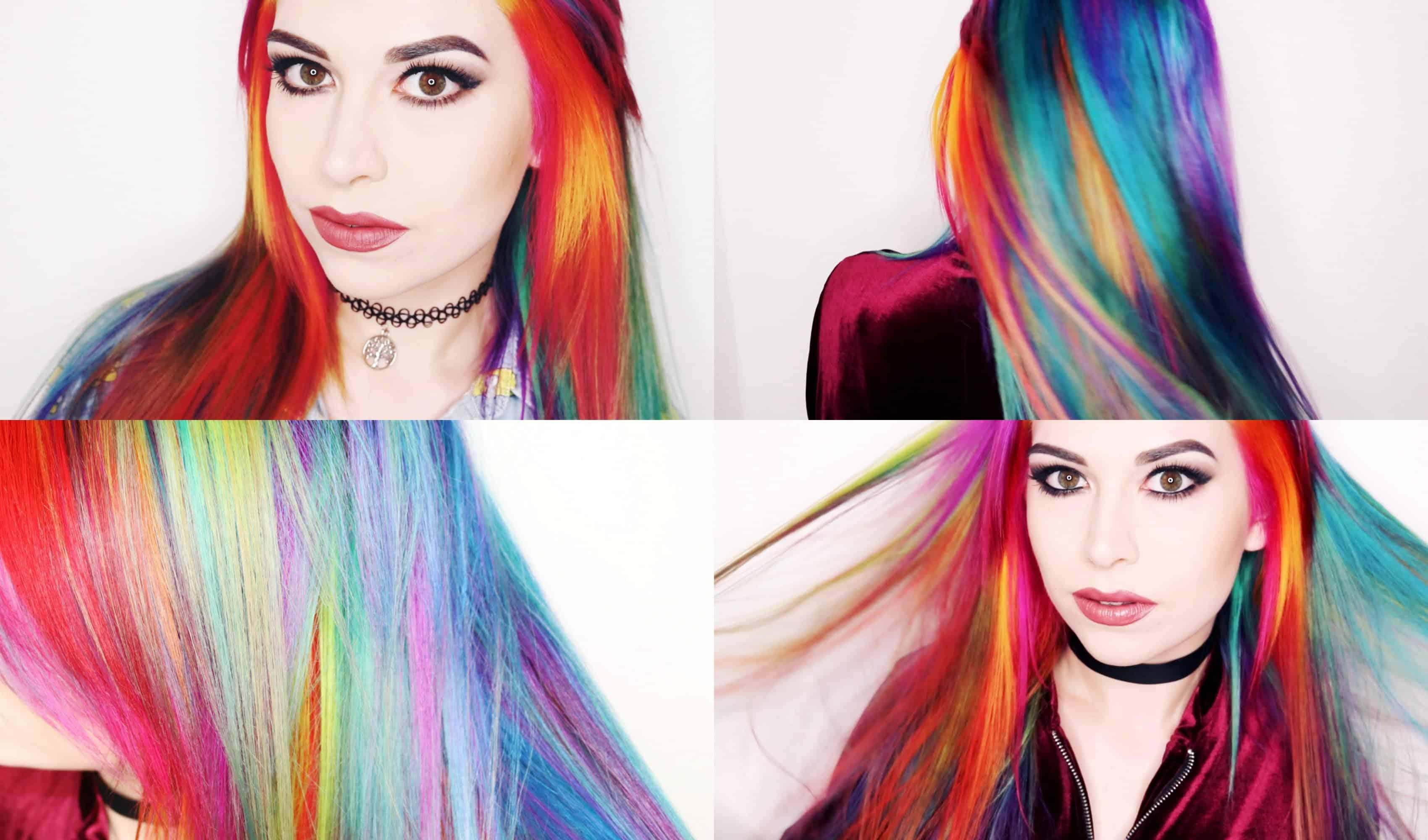 Wild rainbow hair