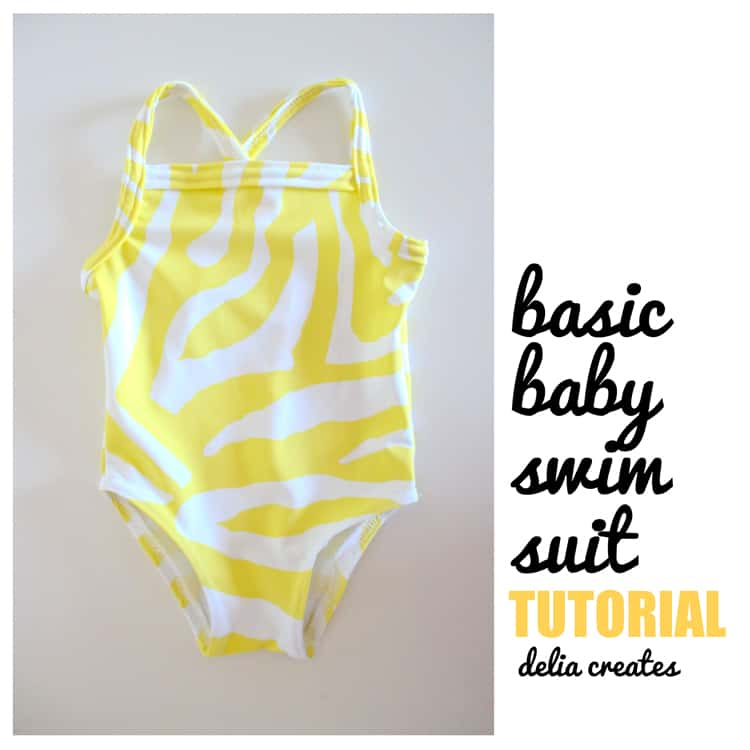 Basic baby swimsuit tutorial