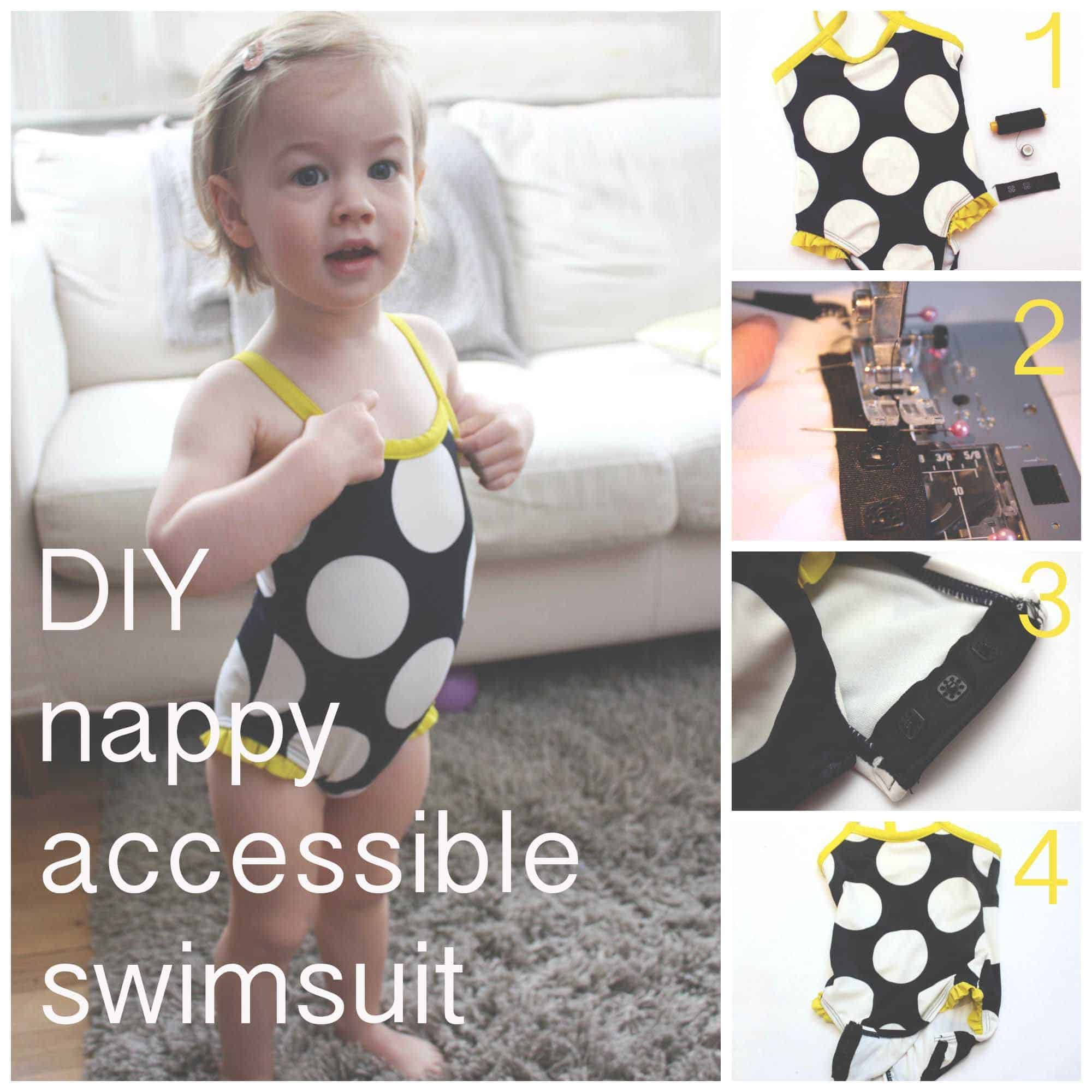 DIY diaper accessible toddler suit
