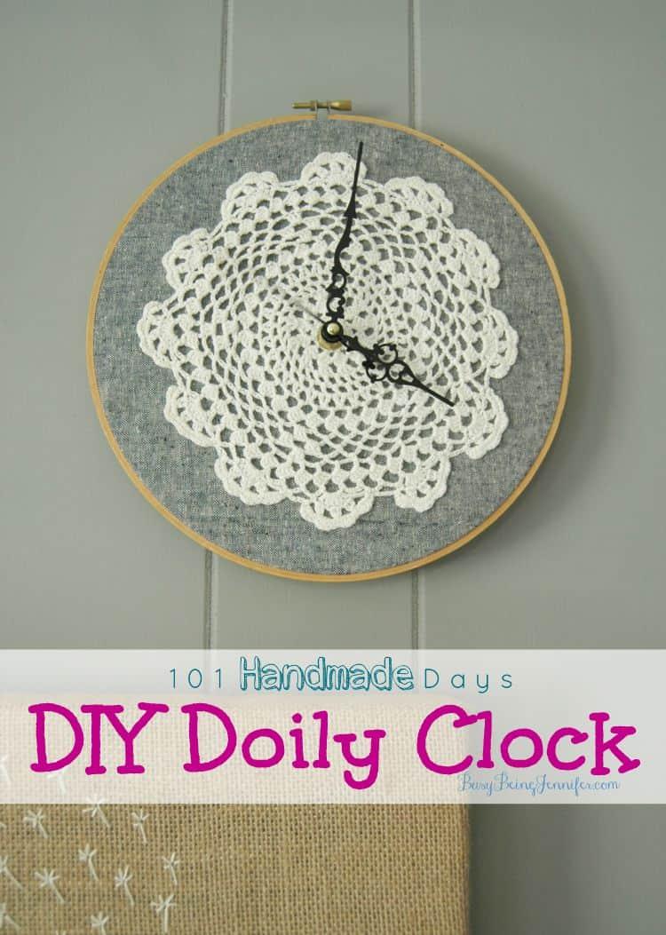 DIY doily clock
