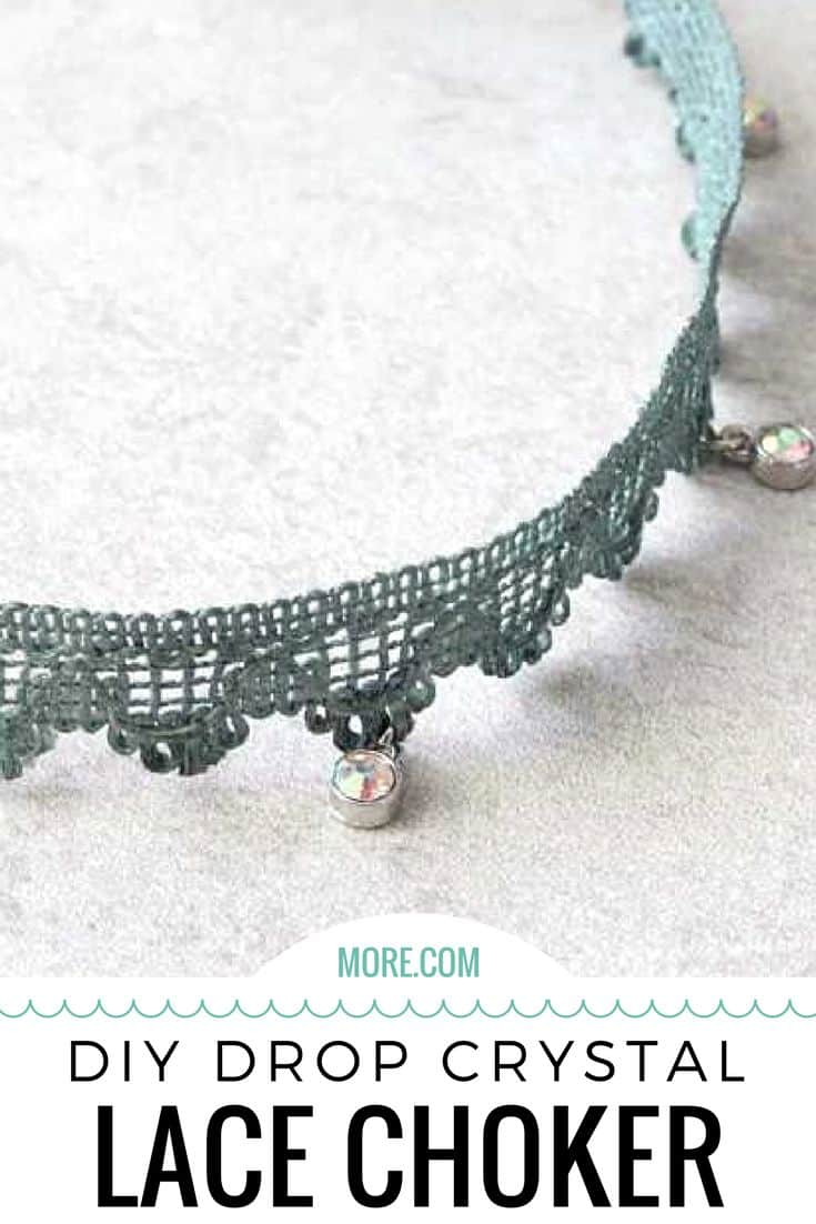 DIY drop crystal lace choker