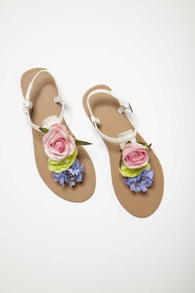 DIY floral toe sandals
