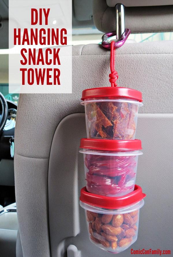 DIY hanging snack tower
