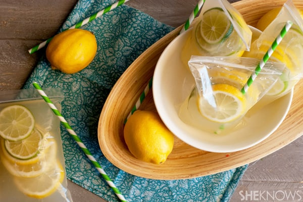 DIY lemonade pouches