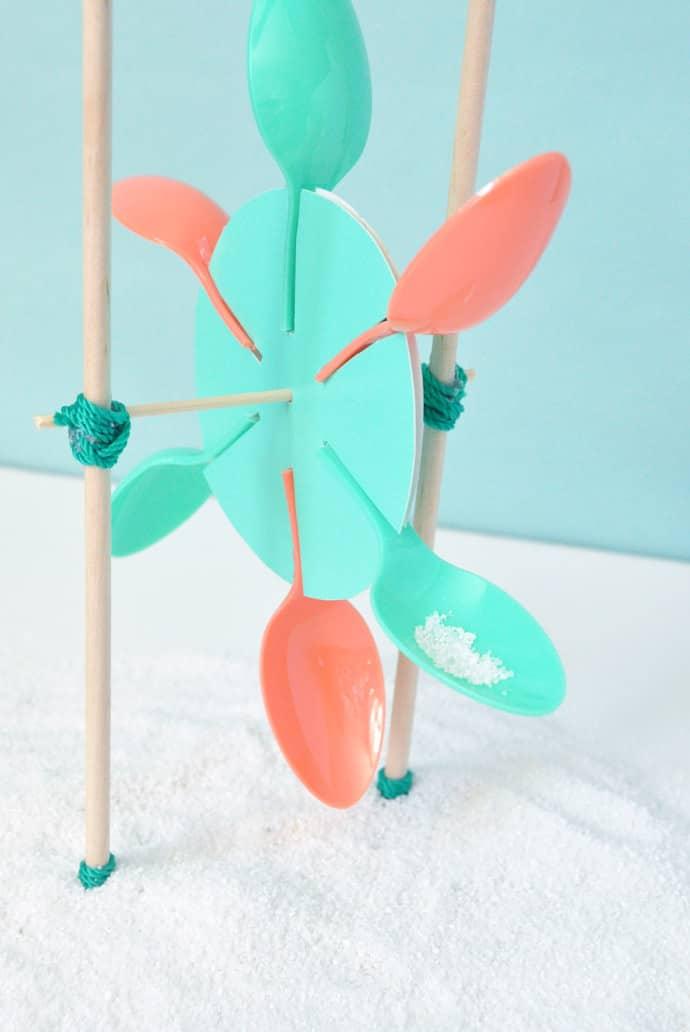 DIY sandmill beach toy