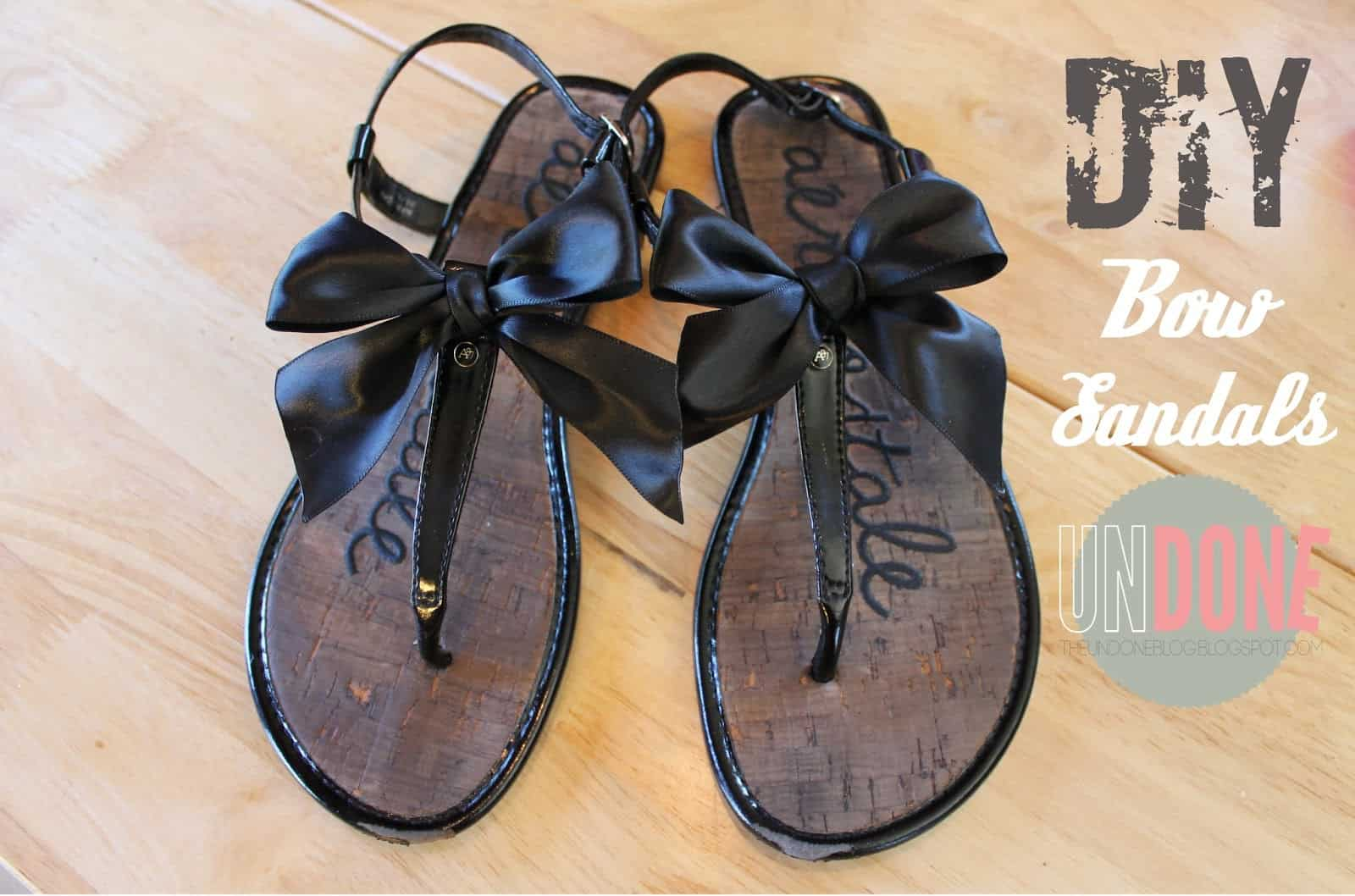 DIY silk bow sandals