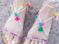 DIY tassel sandlas 200x150 Relaxed Style Statement: DIY Sandals to Keep You Stylish This Summer
