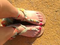 DIY twisted scarf sandals 200x150 Relaxed Style Statement: DIY Sandals to Keep You Stylish This Summer